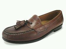 COLE HAAN Mens Loafers Slip on Dress Shoes Tassels Brown US 8.5 EU 41-42 UK 8