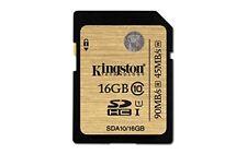 Tarjeta memoria SD 16 GB 90mb/s 600x clase 10 Kingston Pro SDHC 90 Class Uhs-i