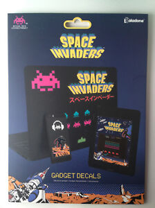 Retro SPACE INVADERS 60 Vinyl GADGET DECALS for Mobile Phones Laptops Tablets