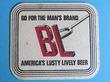 Vintage Beer Coaster ~ Anheuser Busch BUD Light ~ Go For the Man's Brand, Lusty