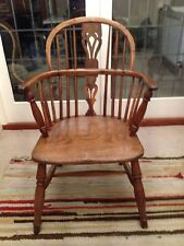 Victorian Yew Wood Windsor Chair