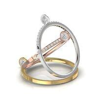 Diamant Solitair Ring 17 Brillanten 0,19 Karat 585er 14 K Gold Weißgold Rosegold