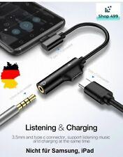 ✅ Audio Adapter USB C TYP C auf 3,5mm Klinke AUX Kopfhörer Ladekabel Handy 2in1✅