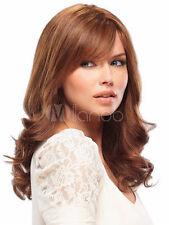 Light Brown Shoulder Length Curly Sweet Woman's Medium Wig 100% Real Hair!
