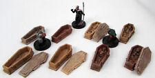 8x Wood Coffin Set 28mm Scale Wargaming Wargame Terrain