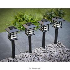 12x jardin poste énergie solaire transport lumière led éclairage extérieur noir ornement