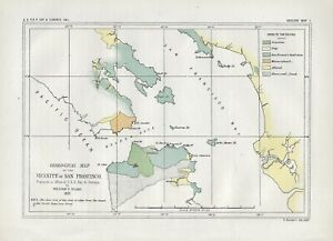 """1853 (1856) """"Geological Map of the Vicinity of San Francisco"""""""