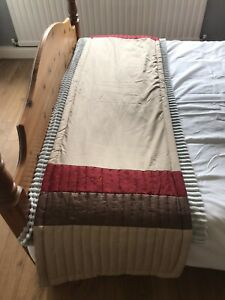Chartwell Home Bed Runner And Silky Circular Cushion - Beige, Red And Brown