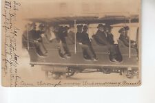Real Photo Postcard Passengers in a Tour Bus Seeing Denver CO Colo