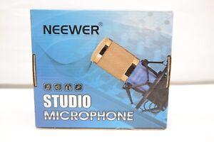 Neewer NW800 Blue Studio Condenser Microphone & Shock Mount Anti-wind Foam Cap