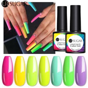 UR SUGAR 7.5ml Fluorescent Gel Polish Nail Art Neon Gel Polish Soak Off UV LED