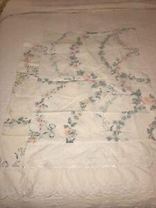 2 Floral Print Pillowcases. Vtg Wamsutta Supercale Standard Size. Lace Trim GUC