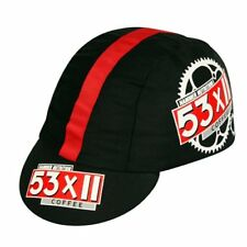 PACE 53 X 11 Coffee Fixed Gear Track Cycling Bicycle Cap Hat , Black x Red
