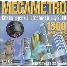 SimCity 2000 SE + Mega Metro PC CD build own city sim game + 1300 extra cities!