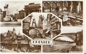 Cheshire Postcard - Views of Chester - Real Photograph - Ref TZ5780