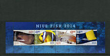 NIUE 2014 MNH Fish 4v M/S Moray Anemonefish Marine Dartfish Butterflyfish