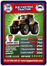JCB Fastrac Tractor #328 Top Gear Turbo Challenge Trade Card (C362)