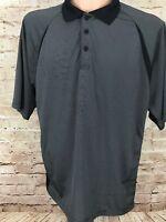 Slazenger Golf Polo Shirt Mens XL Black White Striped Wicking Breathable EUC