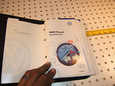 VW 2000 Passat Wagon Owner manual's OEM 1 Booklet with BLACK outer VW OEM 1 Case