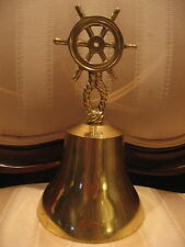 Vintage Solid Brass Bell Maritime, Nautical Ship, Boat, Office or Man Cave Decor