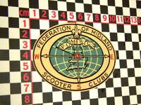 Retro Midlands Scooter Sticker Lambretta