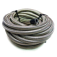 """AN-10 9/16"""" 14MM Stainless Steel Braided RUBBER Oil Cooler Hose Pipe 1 Metre"""