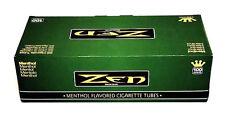 Zen 100MM Size Cigarette Green Menthol Tubes Box 200 ct Filter Tube Wholesale