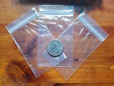100 2 X 3 Zip Seal Top Lock Bags Clear 2 Mil Plastic Reclosable Mini Baggies