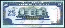 HAITI - 25 GOURDES  2009     P 266d  Prefix  DW   Uncirculated Banknotes