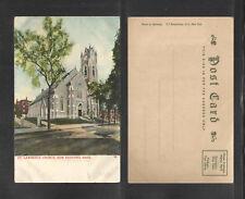 190x ST LAWRENCE CHURCH NEW BEDFORD MASS UDB UNDIVIDED BACK POSTCARD PRINTER #1