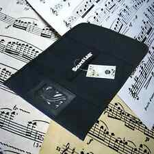 Soundlab Black Canvas Sheet Music Bag Velcro Fastening, Name Slot & Carry Handle