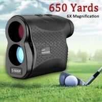 6X Laser Range Finder Slope 650 YD Hunting Golf Rangefinder Flag-Lock Vibration
