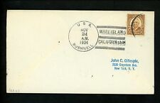 US Naval Ship Cover USS Bushnell AS-2 Pre WWII 11/24/1934 Mare Island CA