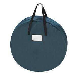 Elf Stor 1017 30-Inch Artificial Wreath Storage Bag, Durable Canvas Green Hol...