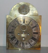 18th century Arched Brass Long case clock dial~Silvered chapter ring~J.Pashier