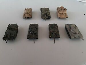 1/144 Can Do Pre Painted Modern Tanks X 7