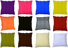 "Cushion Cover Plain colour ripple pleated  60cm  24"" large square pillow daybed"