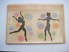 "Vintage Collectible ""Duro Decal Co."" w/ Black Silhouette Women & Bubbles *"