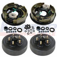 """10""""X2-1/4"""" Electric Brakes With Trailer Hub Drum Kits 5 on 4.5 For 3500 Lbs Axle"""