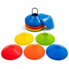 Training Equipment Soft Plastic Disc Cone Set with Mesh Carrying Bag, Multicolor