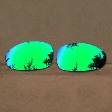 Green Mirrored Replacement Lenses for-Oakley Juliet Sunglasses Polarized