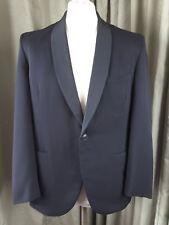 Vintage 60s DAKS Simpson Tailored Black Dinner Jacket Tuxedo Shawl Collar 40S