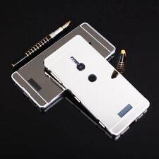 ESPEJO/ESPEJO PARACHOQUES DE ALUMINIO 2 piezas plata para Sony Xperia XZ2 FUNDA