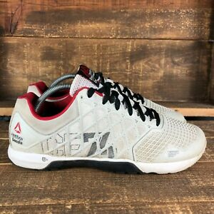 Reebok Mens Crossfit Nano 4.0 Gray M43436 Low Top Lace Up Training Shoes Size 10