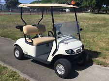 white 2015 ezgo 48v txt 2 seat Passenger golf cart lights windshield