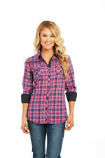 Ladies Cowgirl Up Long Sleeve Light Enzyme Wash Woven Shirt CG61203  Size Small