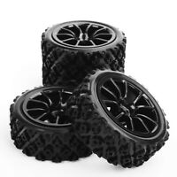 4pcs 1:10 Rubber Tyre Wheel Hub12mm HEX For RC Rally Racing Off Road Car HPI HSP