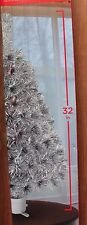 """32"""" SILVER FIBER OPTIC CHRISTMAS TREE COLOR CHANGING MULTI COLOR"""