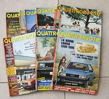 QUATTRORUOTE ANNATA ANNO 1987 9 NUMERI LOTTO RIVISTA MENSILE AUTO VINTAGE