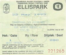 Transvaal V Auckland-SUPER 10 finale 22 MAGGIO 1993 Ellis Park Ticket Rugby